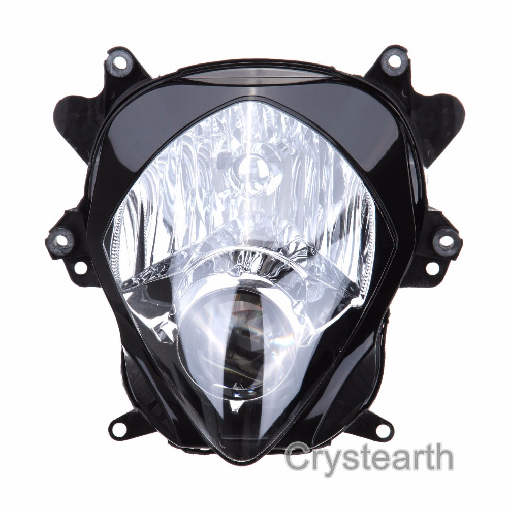 Motorcycle Front Head Light Lamp Headlight Housing Assembly Kit For Suzuki GSXR GSX-R 1000 GSXR1000 2007 2008 K7 K8 for suzuki gsxr 1000 gsx r 1000 gsxr1000 k7 2007 2008 07 08 motorcycle headlight front head lights lamp headlamp clear lens