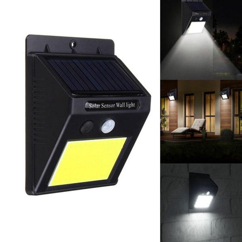 Solar Power 48 COB LED PIR Motion Sensor Light Waterproof Outdoor Wall Lamp IP65 Path Yard Garden Security Lamp