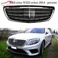 W222 AMG взгляд бампер решетка сетка для Mercedes s класса W222 S350 S400 S450 S500 S600 4 Двери Седан 2014 + передняя решетка капота сетки