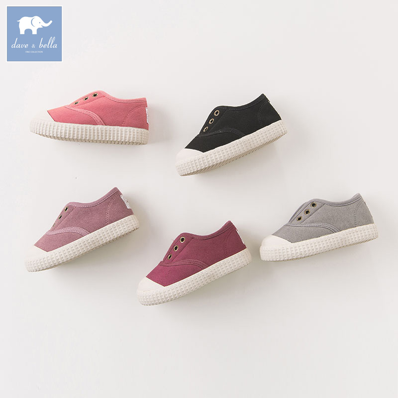 Dave Bella autumn winter baby boy girl canvas shoes brand shoes DB6510 db6743 dave bella spring summer baby girl canvas shoes floral casual shoes
