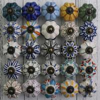 1xCreative Retro Beautiful Ceramic Drawer Shoe Cabinet Knobs Pulls Antique Bronze Dresser Door Handles Knobs Pumpkin Knob