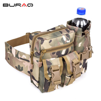 600D waterproof Oxford fabric Climb Bags Camouflage Mens Casual Waist Packs Cool Unisex Waist Pack with bottle holder T0097