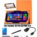 Для Teclast PU защитный Кожаный Чехол Защитной Оболочки/Кожи Для Teclast X2 Pro X3 PRO TBOOK 16 Tablet PC покоя случае 11.6''