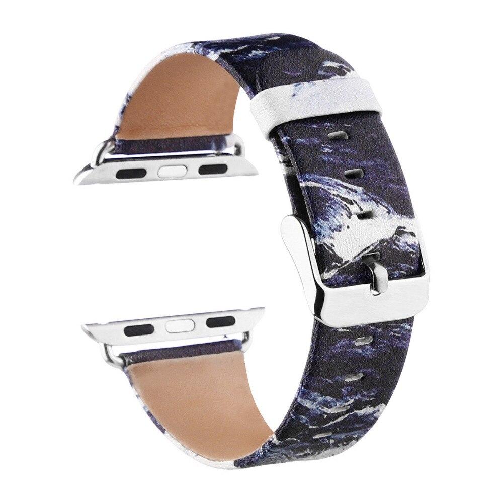 bef50421622 Faixa de relógio de couro assista strap Para Apple 42 EIMO mm 38 ...