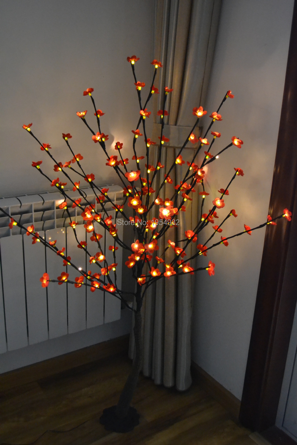 Free Shipping 52 160PCs Blossom Plum Cherry LED Tree Light in 3V Voltage With Base Branch