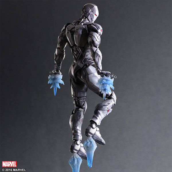 Play Arts Marvel Avengers 25cm IronMan Grey limited edition Super Hero Iron man Action Figure Toys