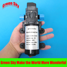 цена на 5.5l/min 80w 12v dc automatic pressure switch type with on/off button and socket high pressure micro diaphragm water pump
