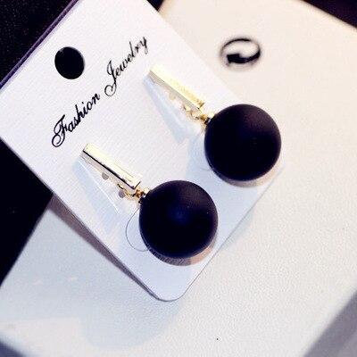 Fashion black ball drop earrings for women boucles d'oreille femme, cute gold color dangle earings brincos oorbellen jewellery