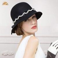 New arrival Ladies fashion winter wool hat women dome Korea basin hat female sweet British party ceremony cap B-1194