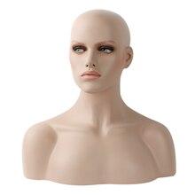 Realistic Fiberglass Mannequin Head Bust For Wigs