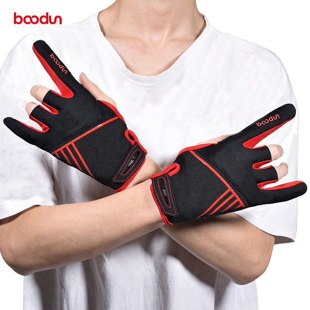 1 Pair Boodun Professional Men Women Bowling Gloves Antislip Elastic Breathable Sports Bowling Ball Mittens Bowling Accessories 1