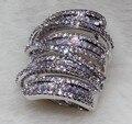 Luxury Full AAA Austrian Zircon Wedding Finger Ring Full Created Diamond Finger Ring for engagement women fashion jewelry