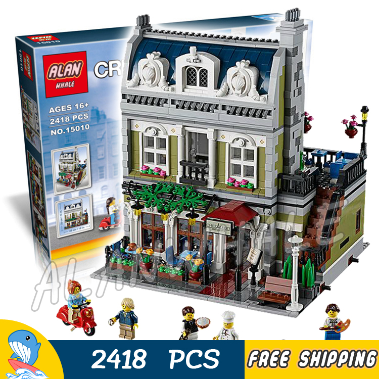2418pcs Creator Expert Parisian Restaurant Construct 30007 Model Modular Building Blocks Toys Bricks Hotel Compatible With lego туфли mango mango ma002awtwy52