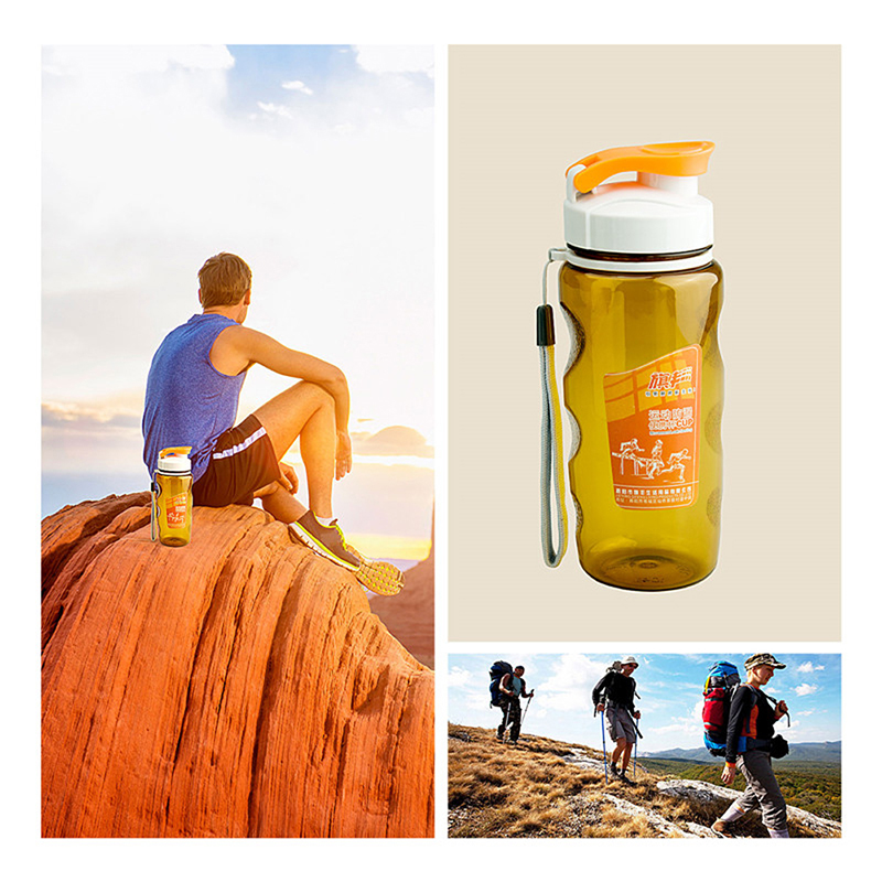 Nuevo Plástico Portable Transparante Fles reunió Deksel Deporte Acuático Fles Fi