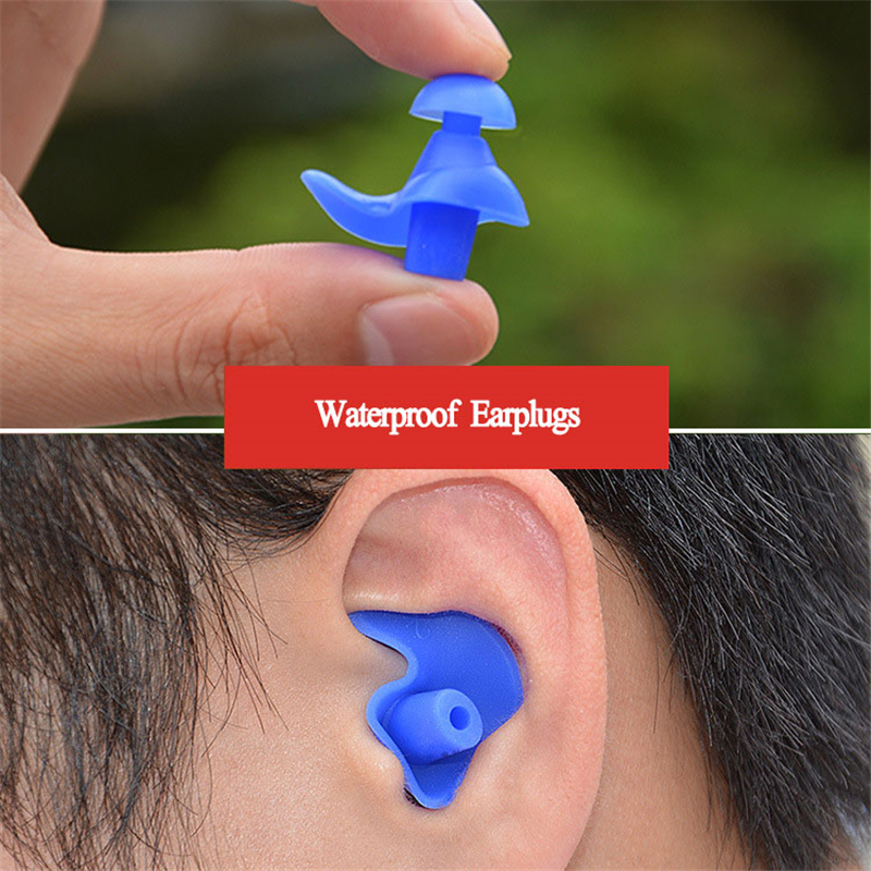 1 Pair Soft Waterproof Earplugs Dust-Proof Ear Environmental Silicone Sport Plugs Diving Water Sports Swimming Accessories