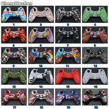 ChengHaoRan Waterproof Game Skull Rubber Skin Silicone Cover Case for Sony PS4 Slim Pro Controller Wireless