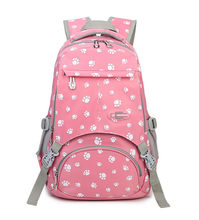 Pink Women backpack for teenage children school bags kids schoolbag large capacity backpack Laptop Travel Bags Mochila(China)