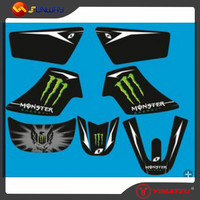 YIMATZU Motorcrcle Parts Decal For YAMAHA PW50 PY50 YP50 Mini Dirt Bike Free Shipping By Epacket