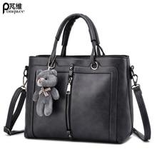 Luxury Women Leather Handbag BLACK Retro Vintage Bag High Quality Famous Brand Tote Shoulder Ladies Hand Bag Designer Handbags цена в Москве и Питере
