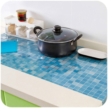 Anti-oil Wall Stickers High temperature Anti-oil paste kitchen Self-adhesive foil waterproof bathroom tile wall stickers 65Z