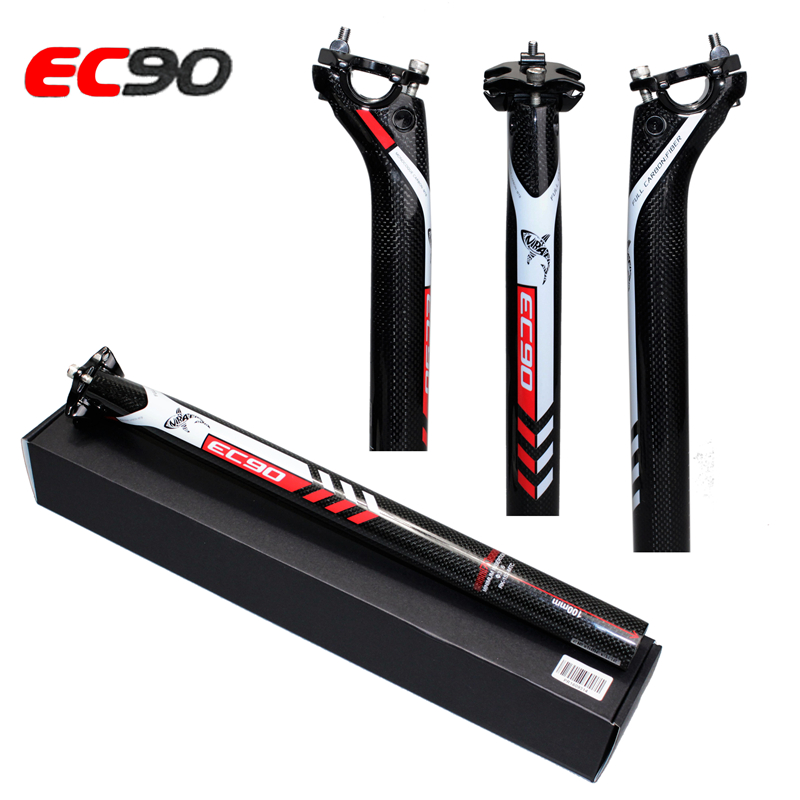 2017 Ultralight Full carbon fiber bicycle seatpost EC90 seat tube MTB seatpost Road bike seat tube seat post 27.2 30.8 31.6MM