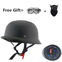 CHROME MIRROR German military style motorcycle helmet DOT open face helmets Cruiser Chopper