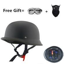 CHROME MIRROR German military style motorcycle helmet DOT open face helmets Cruiser Chopper helmets motorcycle helmet
