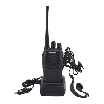 2pcs/lot BF-888S baofeng walkie talkie 888s UHF 400-470MHz 16Channel Portable two way radio with earpiece bf888s transceiver 1