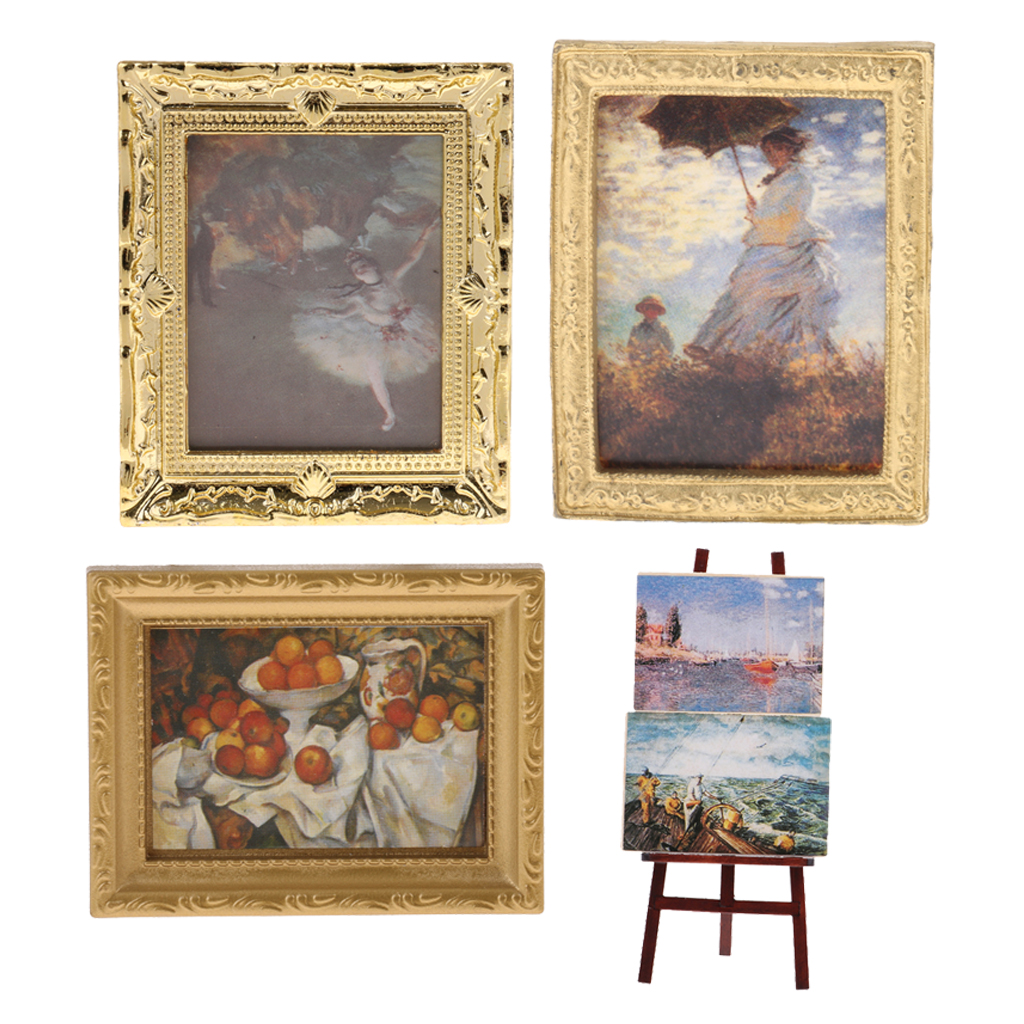 Vintage Photos Painting Mural Wall Picture Miniature Dollhouse Decor SELL
