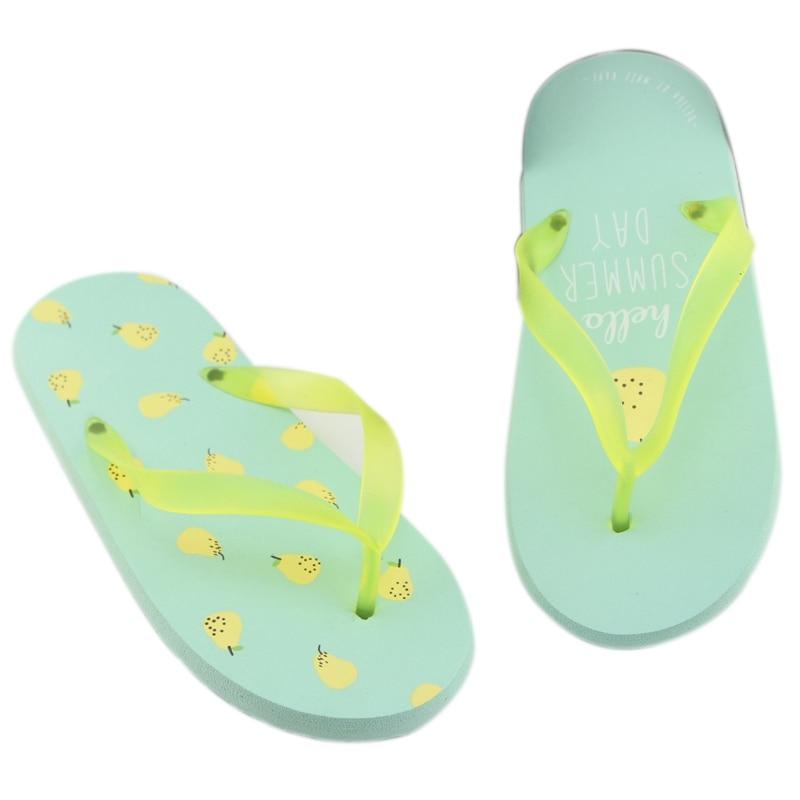 WD38 Nuevo 2018 Floral de las mujeres, con cuentas lentejuelas adorno malla zapatillas Flip Flop Sandal