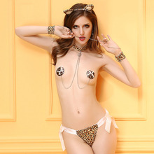 New Porn Women Leopard Open Bra Bikini Cosplay Sexy Erotic Lingerie Underwear Women Sex Cosplay Catwoman Erotic Lingerie