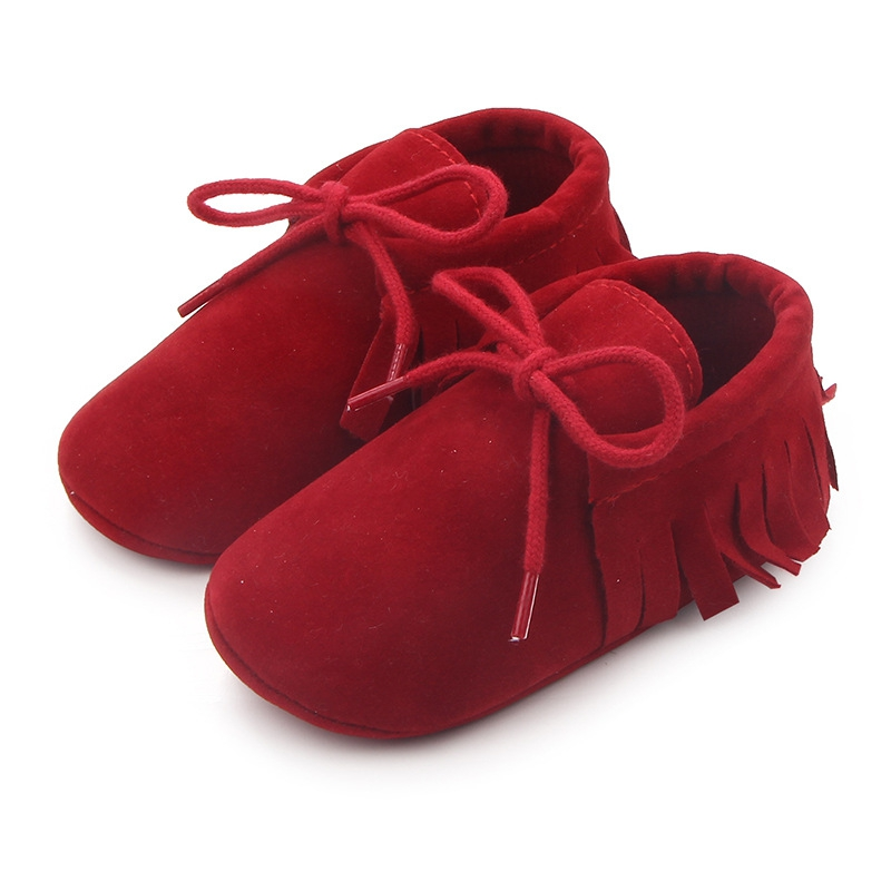 First Walkers Tassel Earrings Soft Shoes Newborn Baby Shoes PU Suede Leather Boy Girl Moccasins Shoes