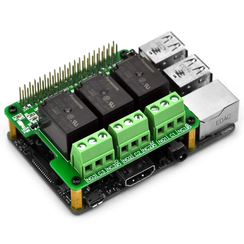 Electronics-Salon RPi Power Relay Board Expansion Module, For Raspberry Pi A+ B+ 2B 3B.