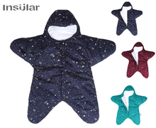 New Arrival Free Shipping Star Baby Sleeping Bag Winter Sleep Sack Warm Blanket Swaddle