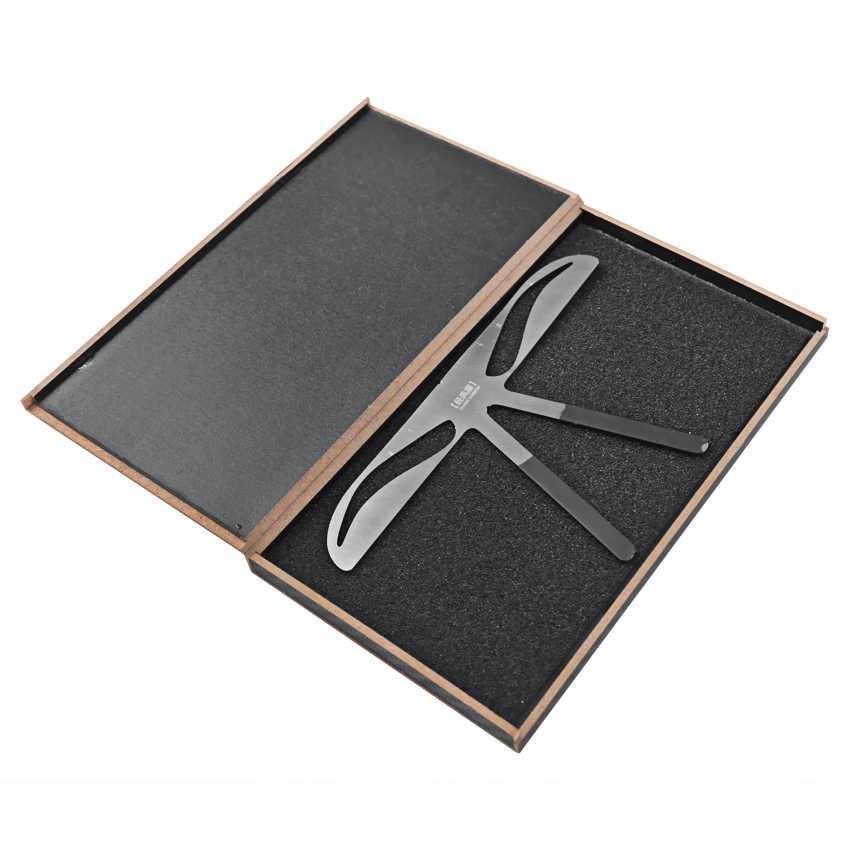 眉毛定規ステンシルステンレス鋼眉毛 Microblading アートメイク測定整形バランス DIY テンプレート美容ツール