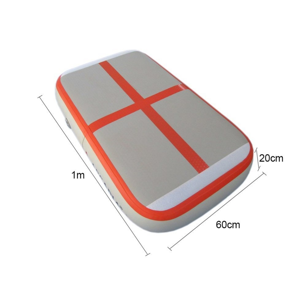 airboard 1m x06m x20cm inflatable gymnastics mats for home with free hand pump - Gymnastics Mats For Home