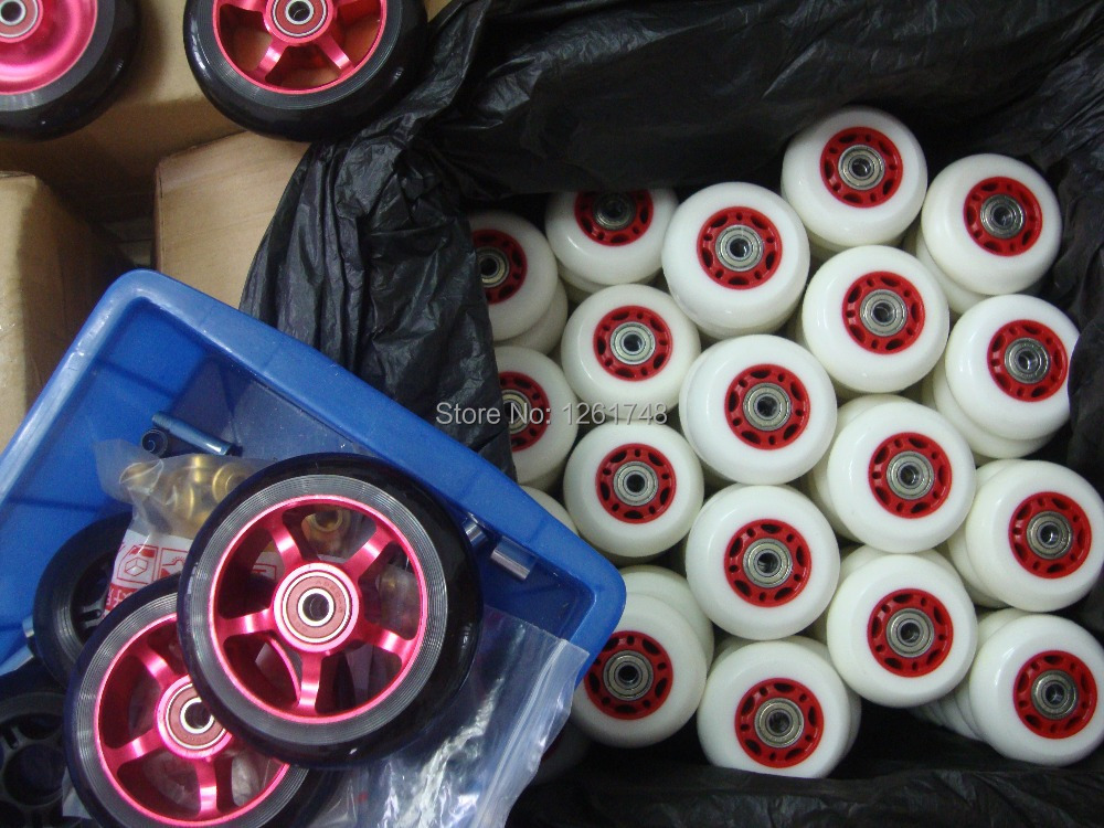 8PCS Including 608ABEC 7 bearings Free shipping 64 68mm wear resistant polyurethane wheels skate wheels roller
