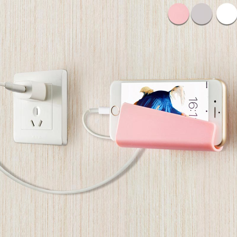 Creative Mobile Phone Charging Holder Bracket Sticky Wall