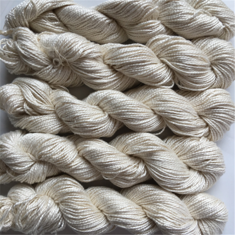 500g 5pieces lot hank pure silk yarn natural white color undyed yarn silk yarn for knitting