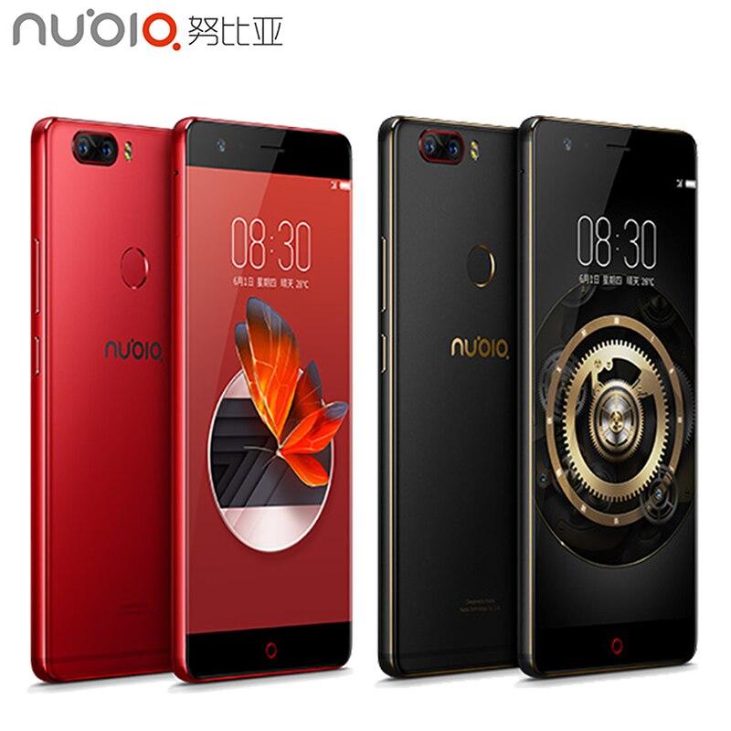 Оригинальный Нубия <font><b>Z17</b></font> сотовый телефон 5.5 дюймов Экран 6 ГБ Оперативная память 128 ГБ Встроенная память Snapdragon 835 Octa core android 7.1 OS Доль Камера смарт&#8230;