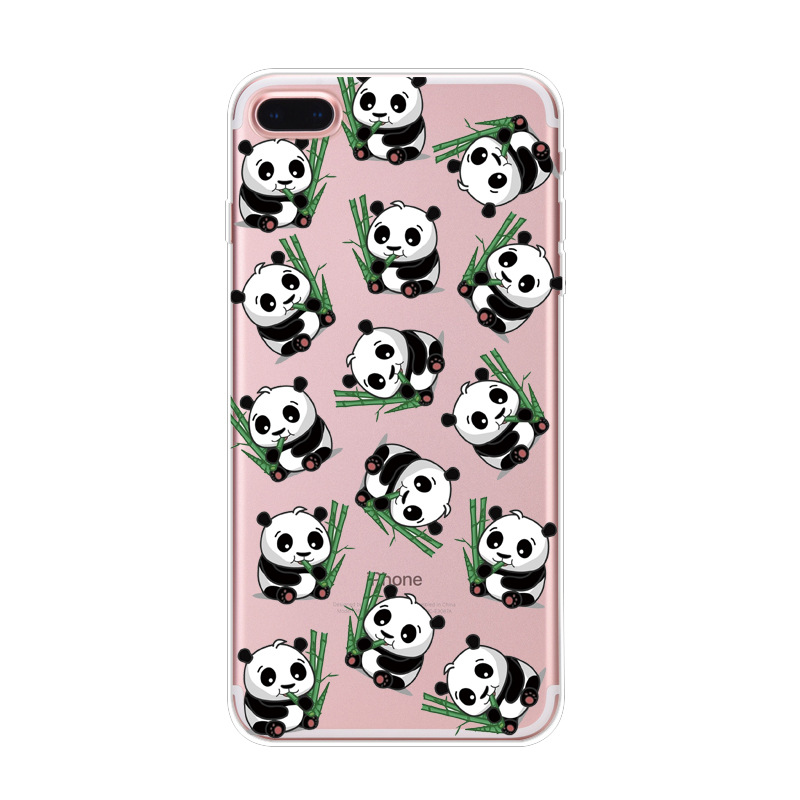 the latest c14bc 42507 US $1.8 |2017 Lovely Animal Cartoon Panda Phone Case For iphone 5 Case Cute  Panda Soft Back Cover For iPhone 5 5S SE 6 6S 7 Plus Fudas-in Rhinestone ...