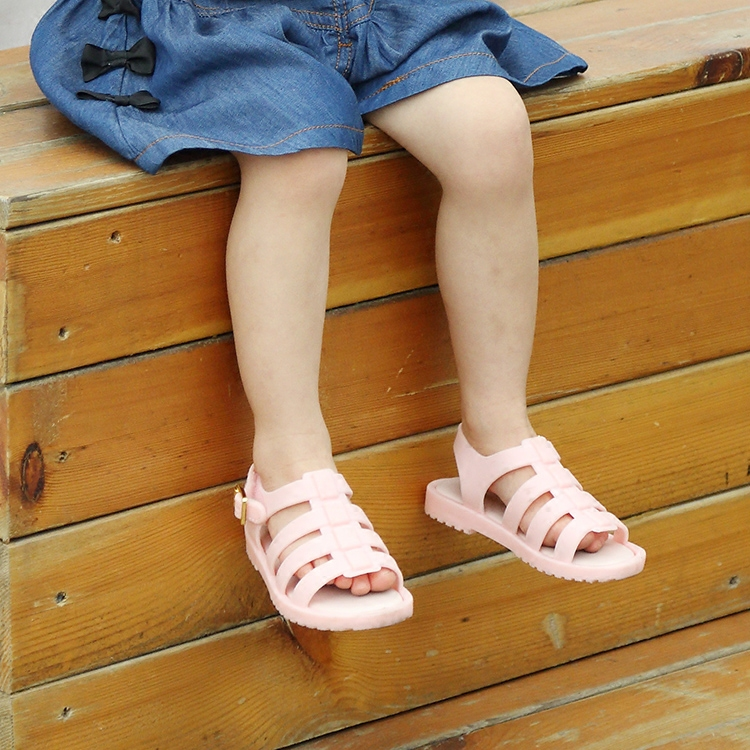 Mini Melissa Rom Mädchen Sandalen für Kinder Mode rosa Sandalen Kinder Kinder Melissa Jelly Schuhe Sandalen Wohnungen Sommer Sandalen