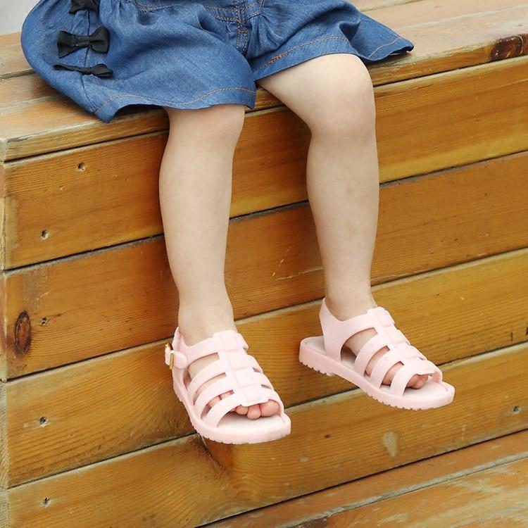 Mini Melissa Roma Gadis Sandal untuk anak-anak fashion sandal merah muda anak-anak Anak-anak Melissa Jelly Sepatu sandal flat Musim Panas