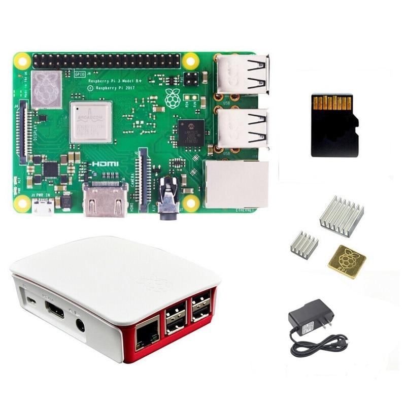 Raspberry Pi 3 modèle B + (Plus) processeur intégré Broadcom 1.4 Ghz Quad-Core 64 bits Wifi Bluetooth et Port Usb avec étui