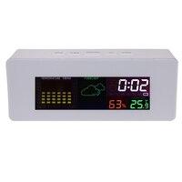 Bedside Desk Color Display Digital Weather Forecast Station W Alarm Clock