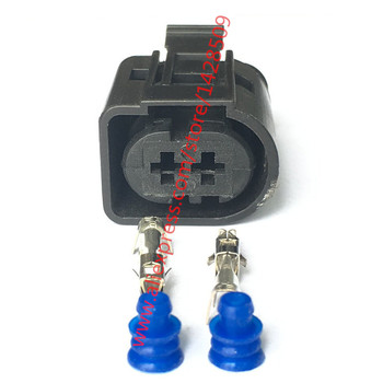 20 Sets 2 Pin Female Housing Plug Electrical Sealed Auto Connector For Tyco/Amp 1-967412-2/ 0-965695-1