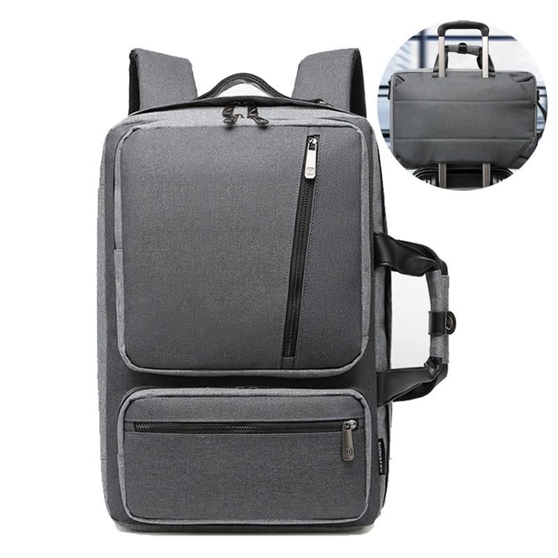 Convertible Briefcases Large Nylon Computer Notebook Bag Waterproof Travel Rucksack For Men Women Maletin Portatil 15.6 XA227ZC