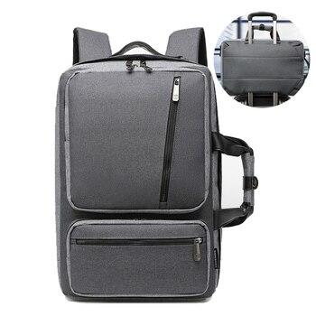 Maletines convertibles grandes de nailon para ordenador portátil, mochila de viaje impermeable...