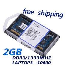 2 ГБ бесплатная доставка memoria оперативной памяти ноутбука ddr3 ram hynix чипсетов 1333 мГц части компьютера памяти so-dimm