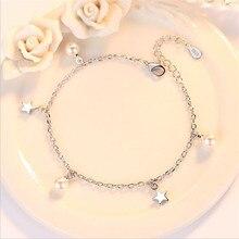 LUKENI Latest Star Pearl Design Female Bracelets Jewelry Fashion 925 Sterling Silver Bracelets For Women Engagement Party Bijou